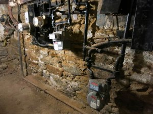 "Our ""medieval"" electrical meter and panel before the storm."